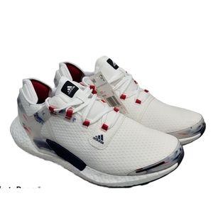 Adidas alphtorsion boost USA white blu red colors
